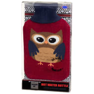 Knitted Design Hot Water Bottle - Owl