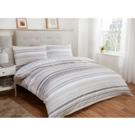 Tribeca Stripe Double Duvet Set Twin Pack - Natural