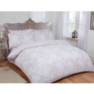 Damask Double Duvet Set Twin Pack - Blush
