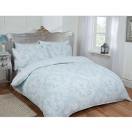 Damask Double Duvet Set Twin Pack - Duck Egg
