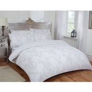Damask Double Duvet Set Twin Pack - Natural