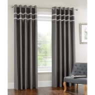 Diamante Pleated Fully Lined Curtain 66 x 90
