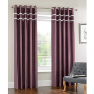 Diamante Pleated Fully Lined Curtain 66 x 72