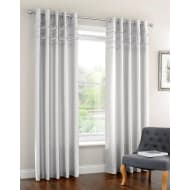 Diamante Pleated Fully Lined Curtain 46 x 54