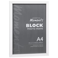 Block A4 Photo Frame - White