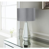 Cara Faceted Mirror Table Lamp