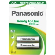 Panasonic Rechargeable AA Batteries 2pk