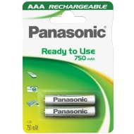 Panasonic Rechargeable AAA Batteries 2pk