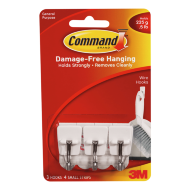 Command Small Kitchen Utensil Wire Hooks 3pk