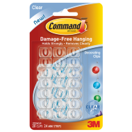 Command Decorating Clips Clear 20pk