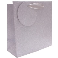 Glimmer Gift Bags 3pk - Silver