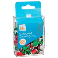 Coloured Drawing Pins 300pk