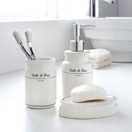 Salle de Bain Bathroom Set 3pc - White