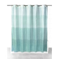 Beldray Hookless Shower Curtain - Green