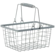 Shopping Storage Basket - Grey
