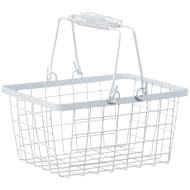 Shopping Storage Basket - White