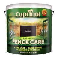 Cuprinol Less Mess Fence Care Rich Oak 9L