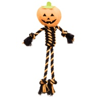 Spooky Dog Rope Toy - Pumpkin