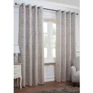 Georgia Textured Leaf Fully Lined Eyelet Curtain - 90 x 90