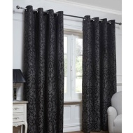Georgia Textured Leaf Fully Lined Eyelet Curtain - 66 x 72