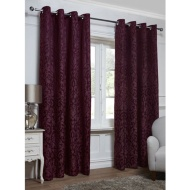 Georgia Textured Leaf Fully Lined Eyelet Curtain - 66 x 90