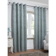 Georgia Textured Leaf Fully Lined Eyelet Curtain - 46 x 72