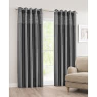 Luxor Sequin Top Border Thermal Eyelet Curtain 46 x 54