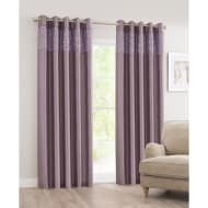 Luxor Sequin Top Border Thermal Eyelet Curtain 46 x 72