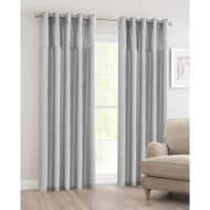 Luxor Sequin Top Border Thermal Eyelet Curtain 66 x 90