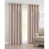 Luxor Sequin Top Border Thermal Eyelet Curtain 66 x 72