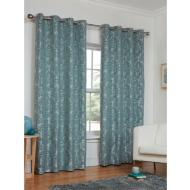 Dorchester Damask Jacquard Fully Lined Eyelet Curtain - 90 x 90