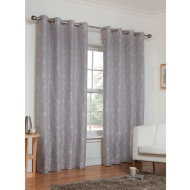 Dorchester Damask Jacquard Fully Lined Eyelet Curtain - 46 x 72