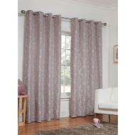 Dorchester Damask Jacquard Fully Lined Eyelet Curtain - 66 x 90