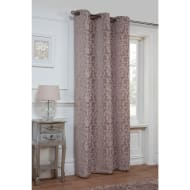 Dallas Damask Chenille Reversible Panel Unlined Eyelet 54 x 86