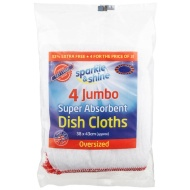 Jumbo Dishcloth 3pk + 1 Free