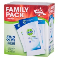 Dettol Anti-Bacterial Wipes Family Pack 252pk