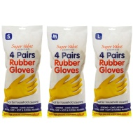 Rubber Gloves 4pk