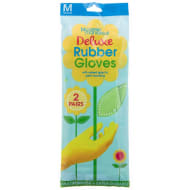 Deluxe Rubber Gloves 2pk - Green
