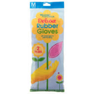 Deluxe Rubber Gloves 2pk - Pink