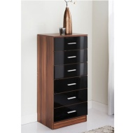 Hugo 6 Drawer Bedside Table