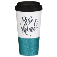 Plastic Sparkle Travel Mug - Rise & Shine