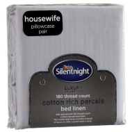 Silentnight Percale Pillowcase Pair