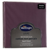 Silentnight Percale Double Fitted Sheet