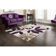Rainforest Plum Hand Carved Rug 110 x 160cm