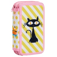Double Tier Animal Pencil Case - Cat