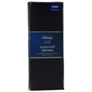 Silentnight Single Fitted Sheet - Black