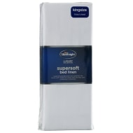 Silentnight King Size Fitted Sheet - White