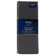 Silentnight King Size Fitted Sheet - Charcoal