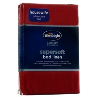 Silentnight Pillowcase Pair - Red