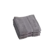 Signature Zero Twist Face Cloth 3pk - Grey
